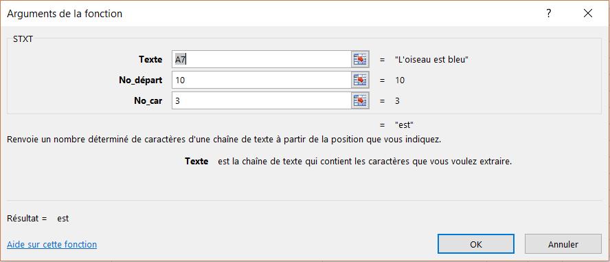 Excel Fonctions Pour Extraire Le Texte Des Cellules